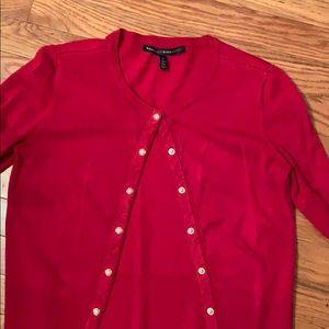 White House Black Market Red Cardigan